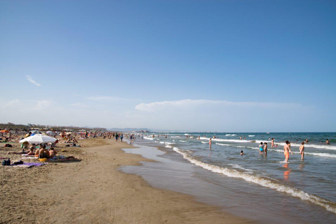 Het strand van Cabanyal